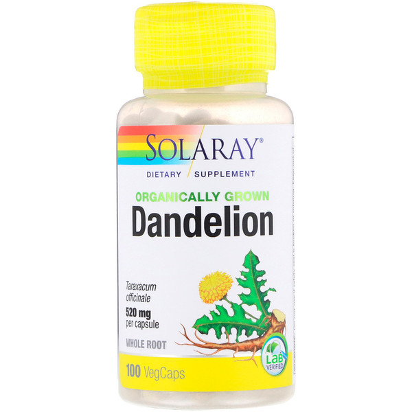 Organically Grown Dandelion, 520 mg, 100 VegCaps
