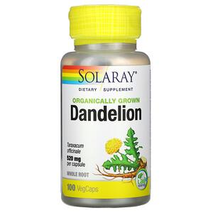 Соларай, Organically Grown Dandelion, 520 mg, 100 VegCaps отзывы