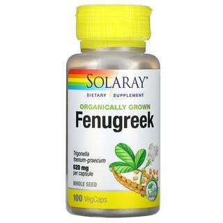 Solaray, Organically Grown Fenugreek, 620 mg, 100 VegCaps