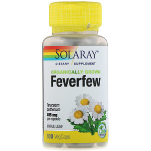 Соларай, Organically Grown Feverfew, 455 mg, 100 VegCaps отзывы покупателей