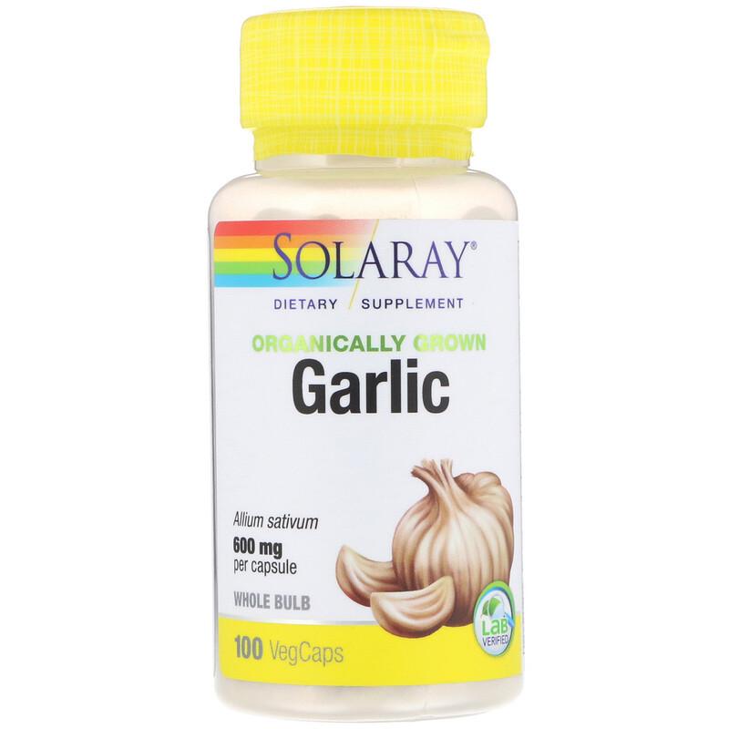 Organically Grown Garlic, 600 mg, 100 VegCaps