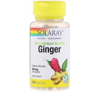 Solaray, Organically Grown Ginger, 540 mg, 100 VegCaps