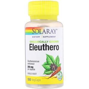 Соларай, Organically Grown Eleuthero, 350 mg, 100 VegCaps отзывы покупателей