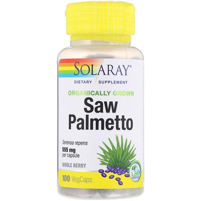 Купить Solaray Органически выращенная сереноя, 555 мг, 100 капсул с оболочкой из ингредиентов растительного происхождения