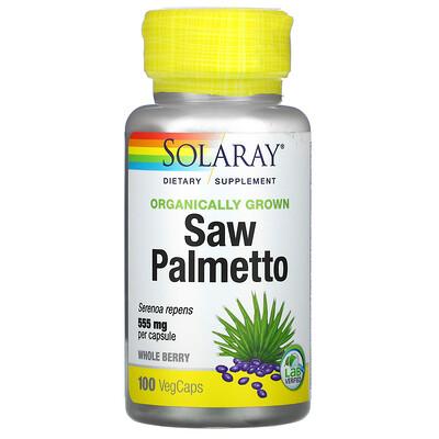 Solaray Органически выращенная сереноя, 555 мг, 100 капсул с оболочкой из ингредиентов растительного происхождения
