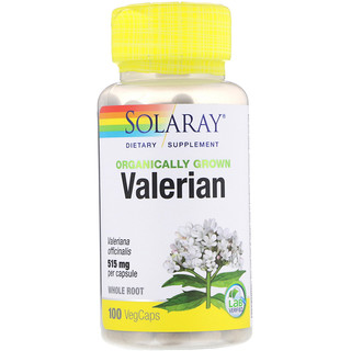 Solaray, Organically Grown Valerian, 515 mg, 100 VegCaps