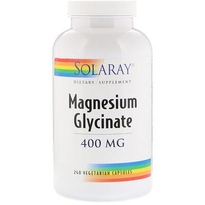 Купить Solaray Глицинат магния, 400 мг, 240 вегетарианских капсул