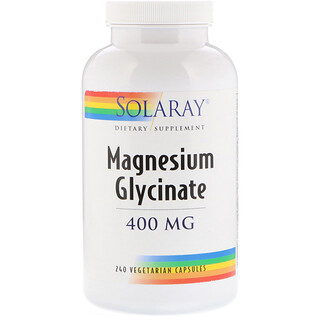 Solaray, Magnesium Glycinate, 400 mg, 240 Vegetarian Capsules