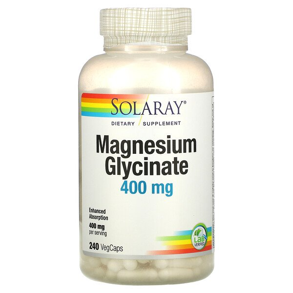 Solaray, Magnesium Glycinate, 400 mg, 240 VegCaps