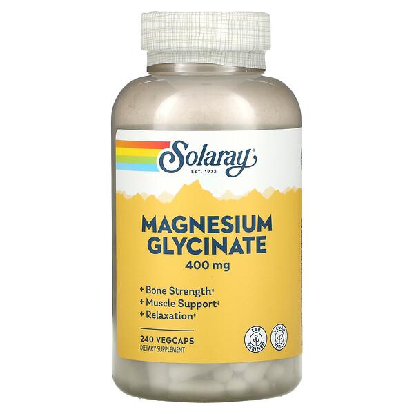 Solaray, جليسينات المغنيسيوم، 100 ملجم، 240 كبسولة نباتية