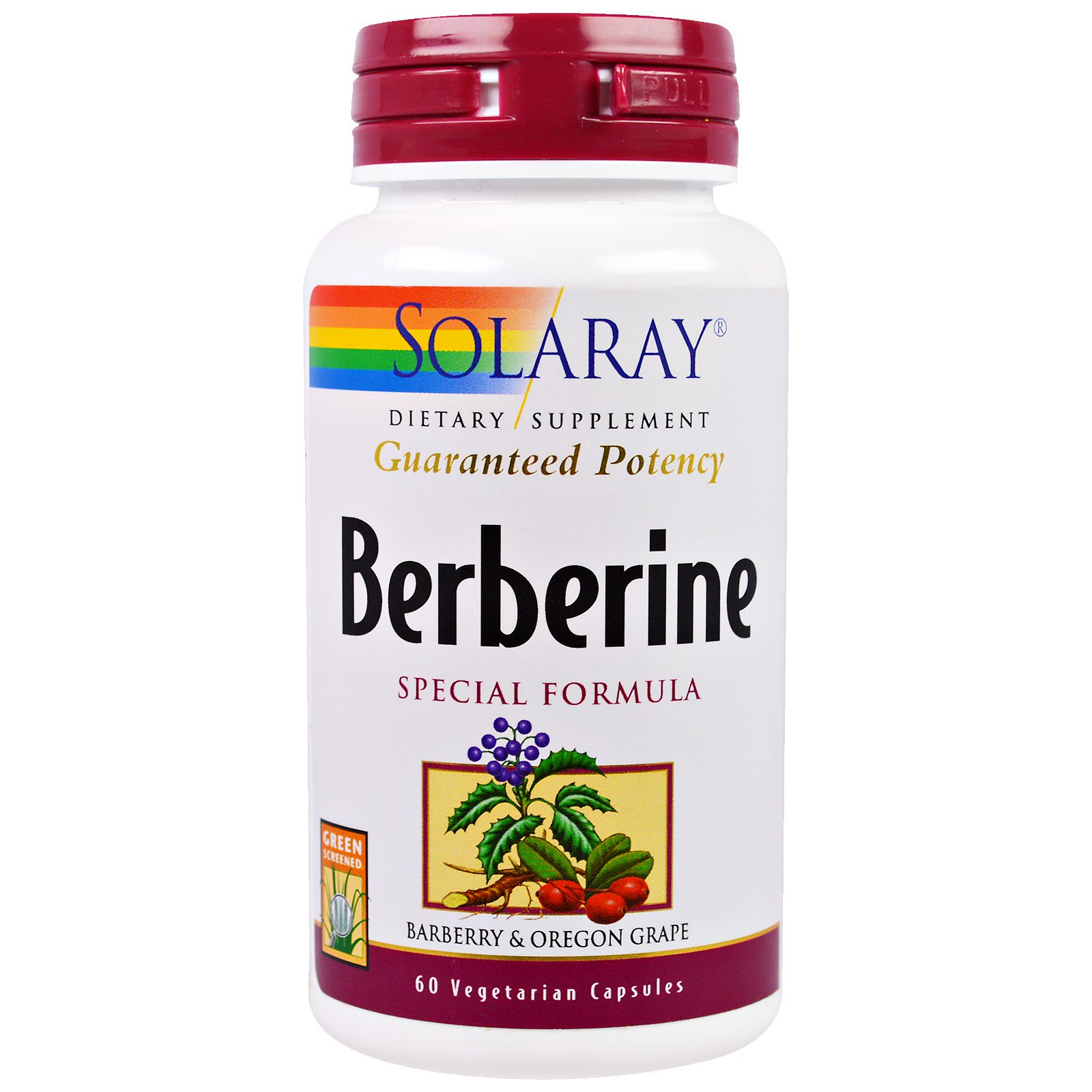 Solaray, Berberine Special Formula, 60 Veggie Capsules