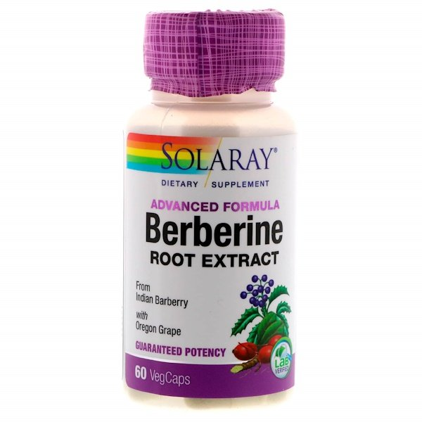 Solaray, Berberine Root Extract, Advanced Formula, 60 VegCaps