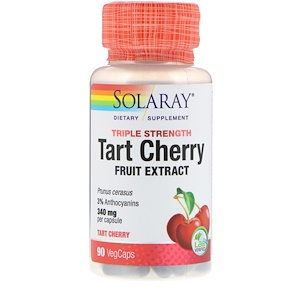 Соларай, Triple Strength Tart Cherry Fruit Extract, 340 mg, 90 VegCaps отзывы