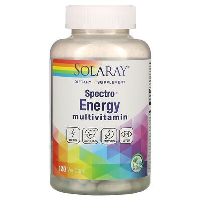 Solaray Spectro Energy Multivitamin, 120 Veggie Caps