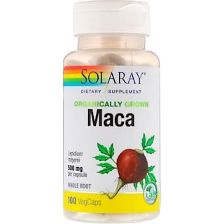 Solaray, Organically Grown Maca, 500 mg, 100 VegCaps