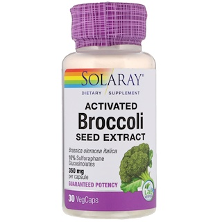 Solaray, Activated Broccoli Seed Extract, 350 mg, 30 VegCaps