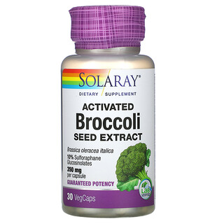Solaray, Activated Broccoli Seed Extract, 350 mg, 30 VegCaps
