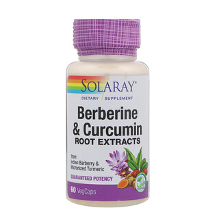 Solaray, Berberine & Curcumin, Root Extracts, 60 VegCaps