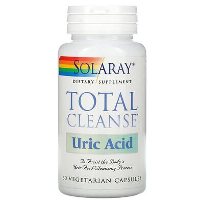 Купить Solaray Total Cleanse, средство для очищения от мочевой кислоты, 60растительных капсул