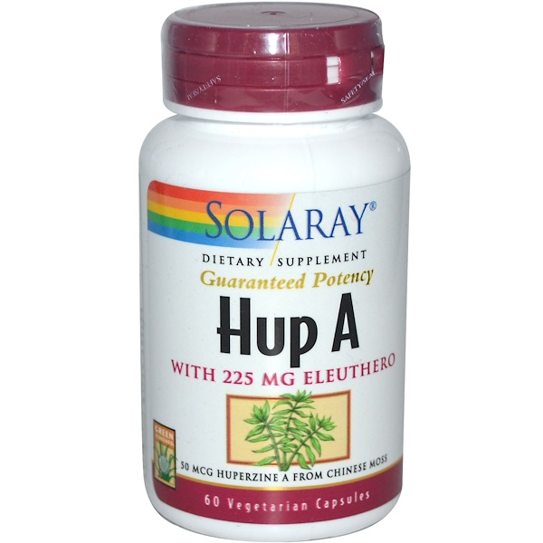 Solaray, Hup A, 60 Veggie Caps (Discontinued Item)