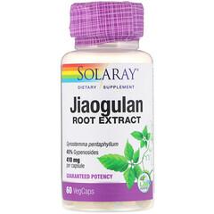 Solaray, 膠葛蘭根提取物,410毫克,60粒素食膠囊