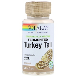 Solaray, Organically Grown Fermented Turkey Tail, 60 VegCaps