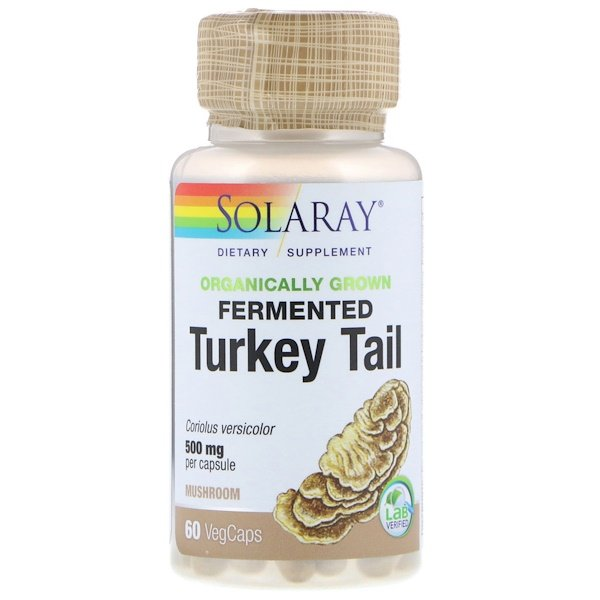 Solaray, Organically Grown Fermented Turkey Tail, 60 VegCaps
