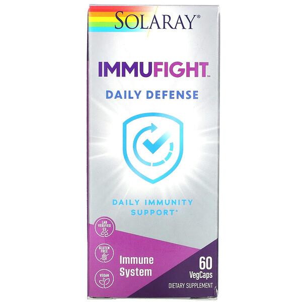 Solaray, ImmuFight, Daily Defense, 60 VegCaps