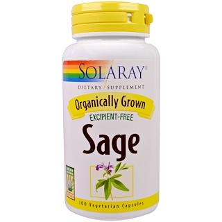 Solaray, Sage, 100 Veggie Caps