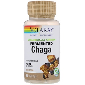 Соларай, Organically Grown Fermented Chaga, 500 mg, 60 VegCaps отзывы