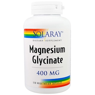 Solaray, Magnesium Glycinate, 400 mg, 120 Vegetarian Capsules
