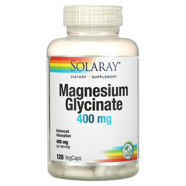 глицинат магния, 100 мг, 120вегетарианских капсул