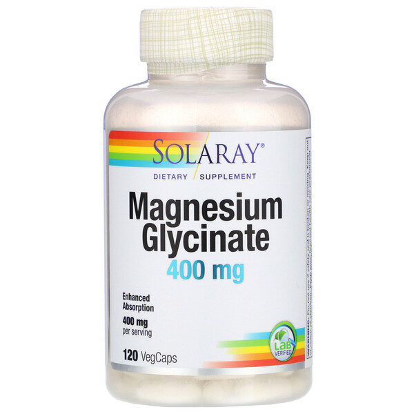 Solaray, Magnesium Glycinate, 400 mg, 120 VegCaps