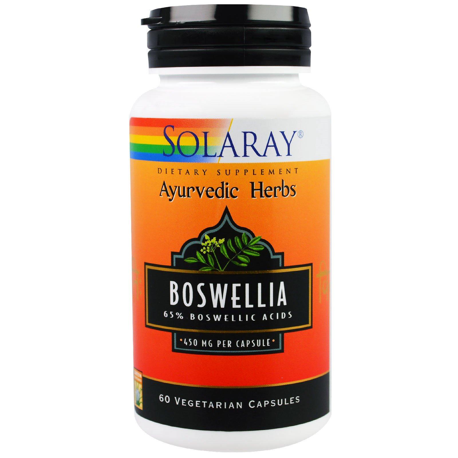 Solaray, Босвеллия, 450 мг, 60 вегетарианских капсул