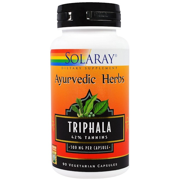 Solaray, Ayurvedic Herbs, Triphala, 500 mg, 90 Veggie Caps (Discontinued Item)