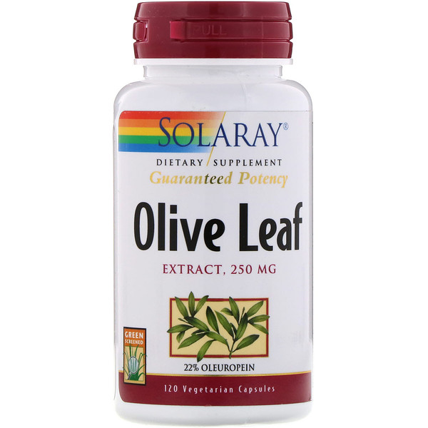 Olive Leaf Extract, 250 mg, 120 Vegetarian Capsules