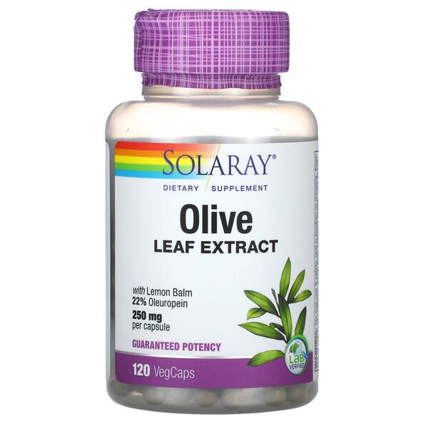 橄欖葉提取物,250 毫克,120 粒素食膠囊