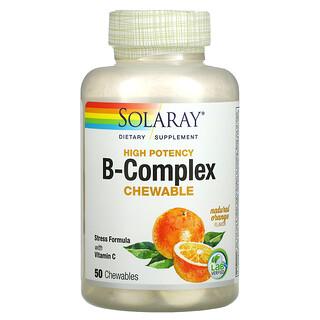 Solaray, High Potency Vitamin B - 復合維生素 C,天然橙味,50 片咀嚼片