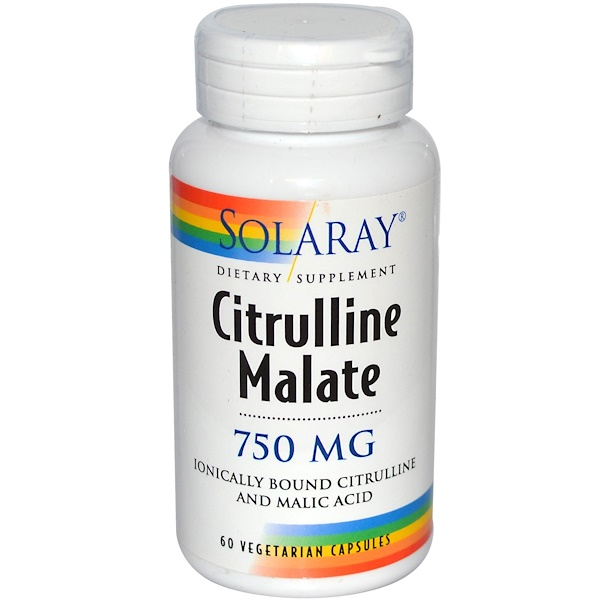 Solaray, Citrulline Malate, 750 mg, 60 Veggie Caps (Discontinued Item)