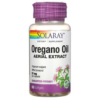 Solaray, Oregano Oil, 70% Carvacrol, 60 Softgels