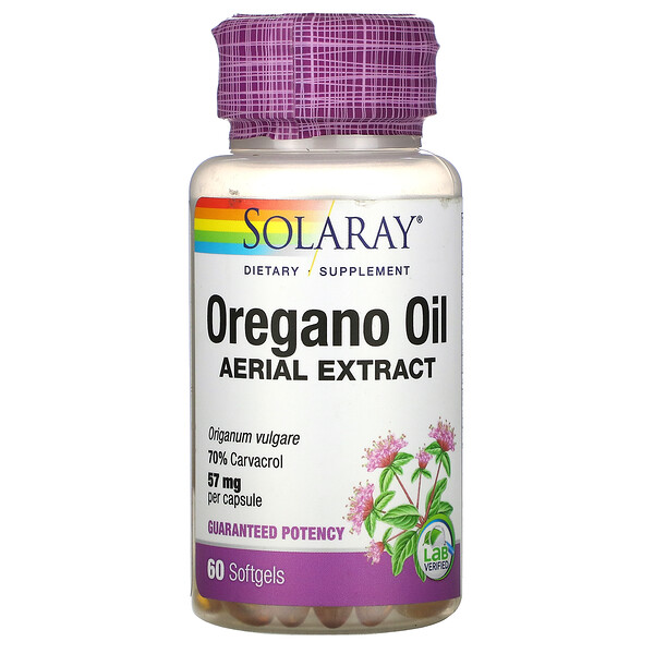 Oregano Oil, 70% Carvacrol, 60 Softgels