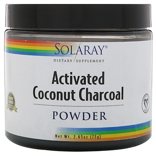 Solaray, Activated Coconut Charcoal Powder, 2.65 oz (75 g)