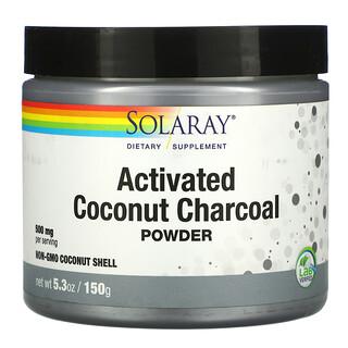 Solaray, 啟動椰子炭粉,500 毫克,5.3 盎司(150 克)