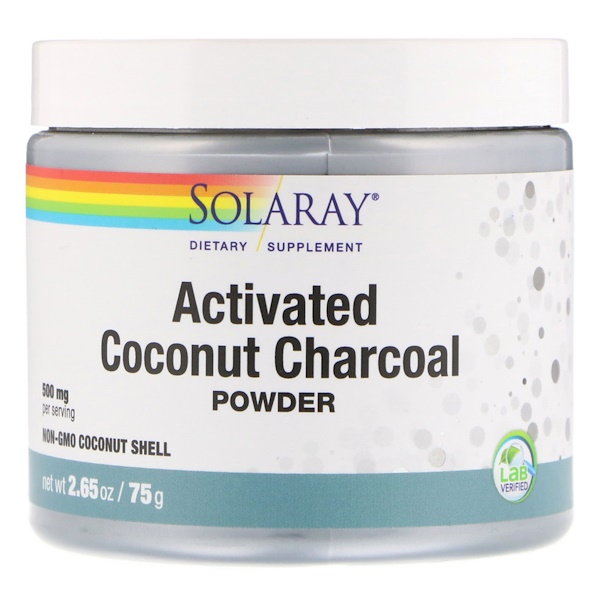 Solaray, Activated Coconut Charcoal Powder, 500 mg, 2.65 oz (75 g)