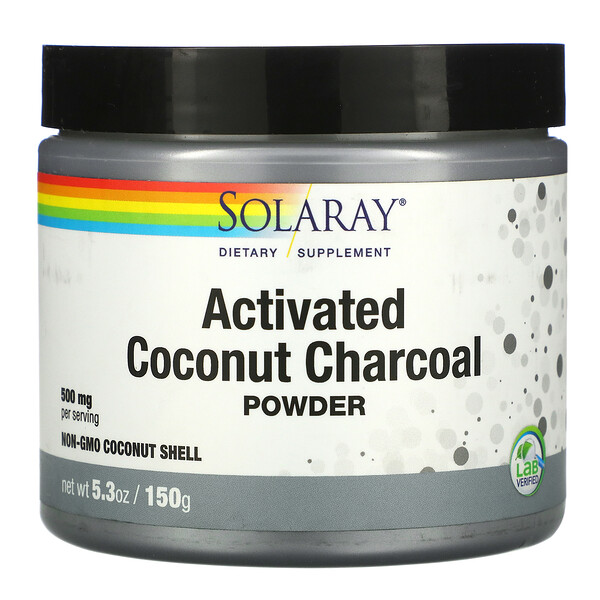 Solaray, Activated Coconut Charcoal Powder, 500 mg, 5.3 oz (150 g)