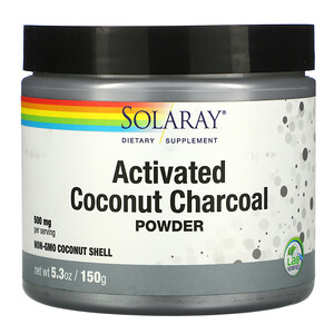 Соларай, Activated Coconut Charcoal Powder, 500 mg, 2.65 oz (75 g) отзывы покупателей