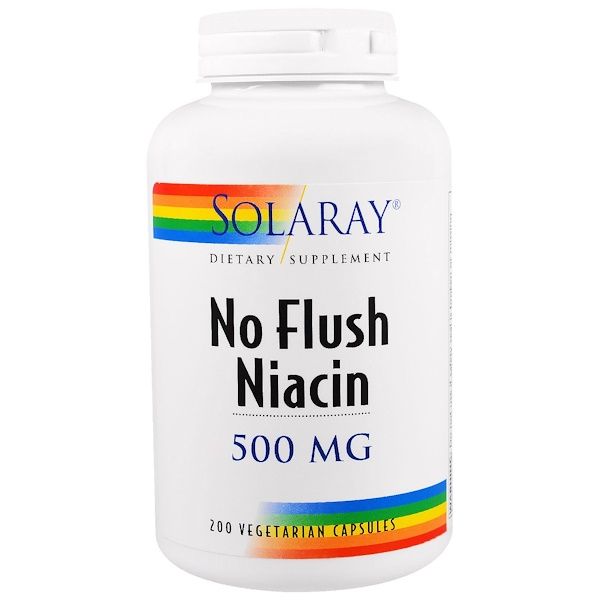 Solaray, No Flush Niacin, 500 mg, 200 Vegetarian Capsules (Discontinued Item)