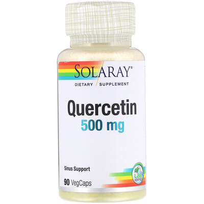 Купить Solaray Кверцетин, 500 мг, 90 растительных капсул