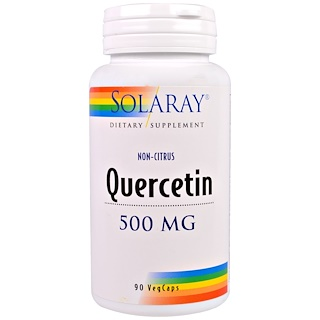 Solaray, Quercetin, 500 mg, 90 Veggie Caps