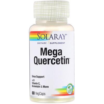 Solaray Мега-кверцетин, 60 растительных капсул